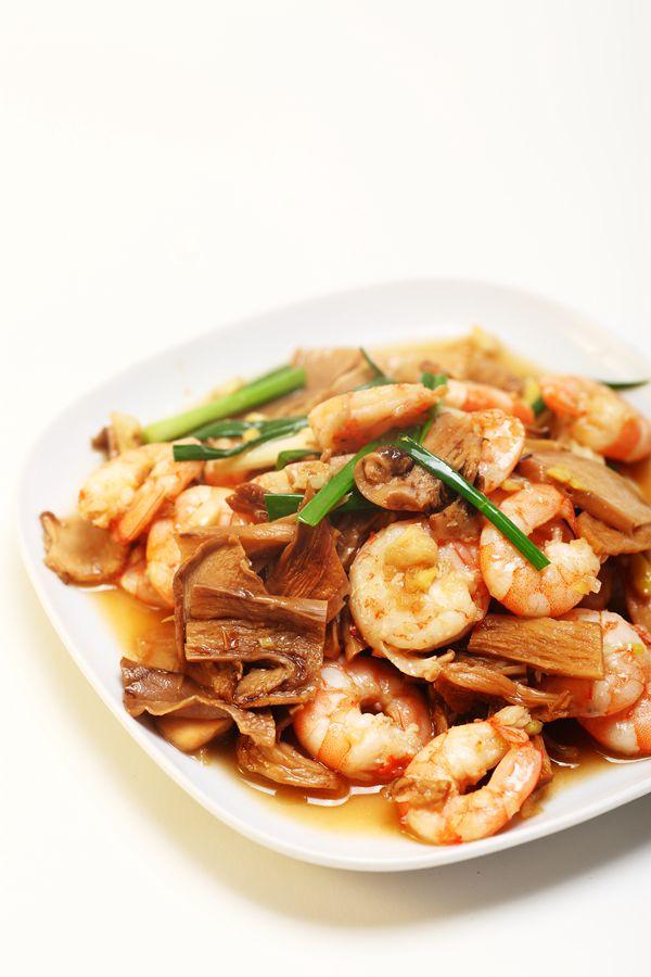 菜男鮮蝦炒松茸的做法_【圖解】菜男鮮蝦炒松茸怎麼 ...