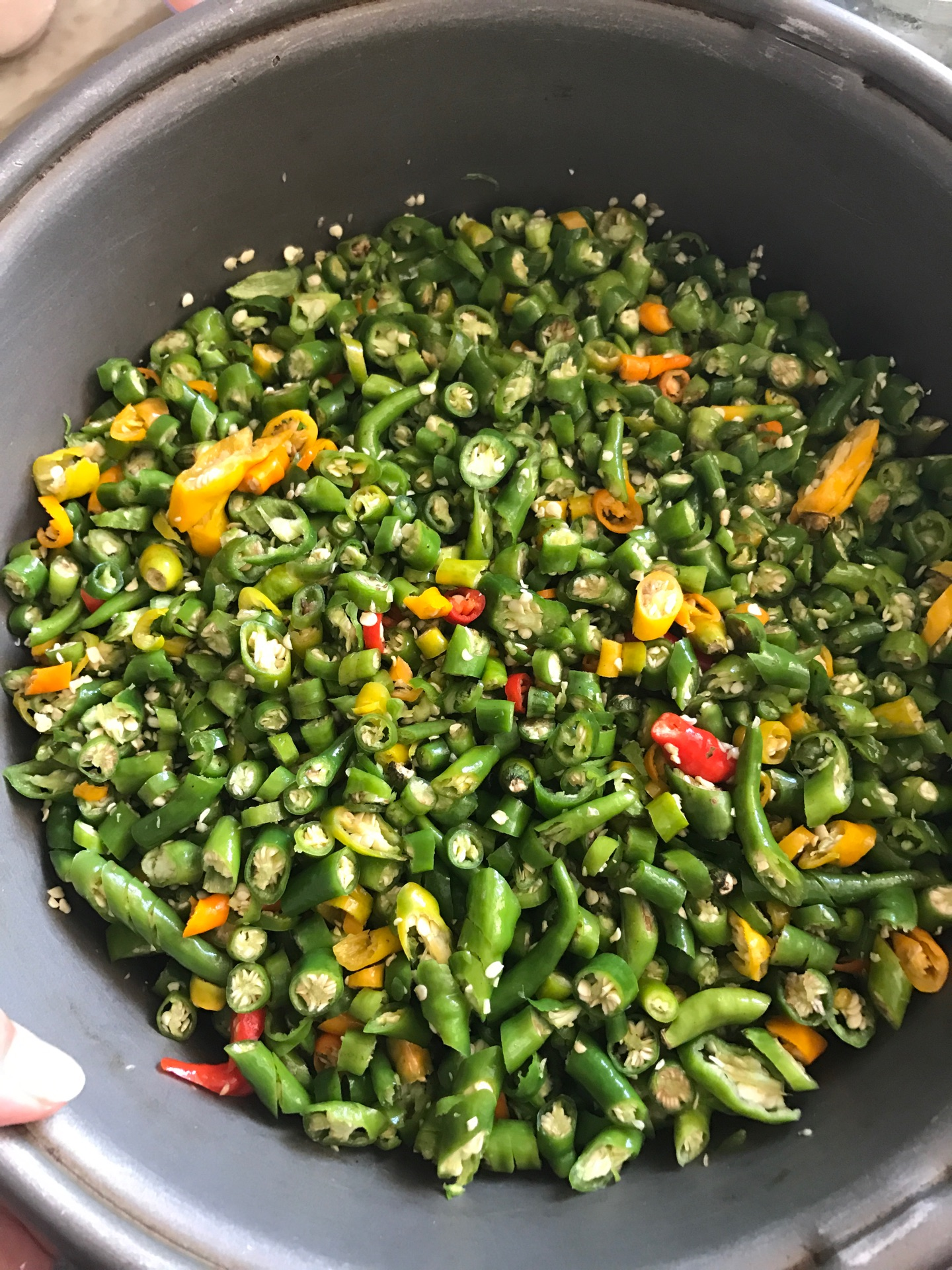 腌制青辣椒酱的做法图解2