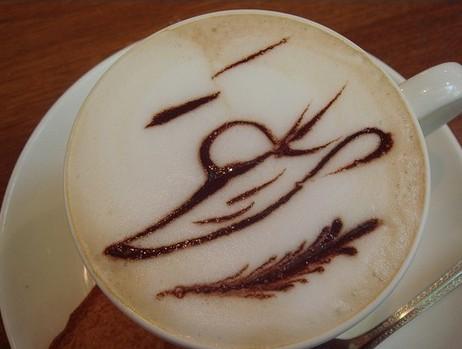 咖啡拉花画