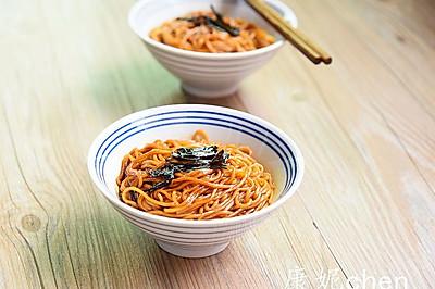 葱油面#小虾创意料理#