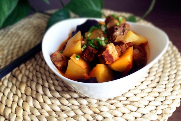 番茄土豆炖牛腩#我要上首页酸辣家常菜#的做法