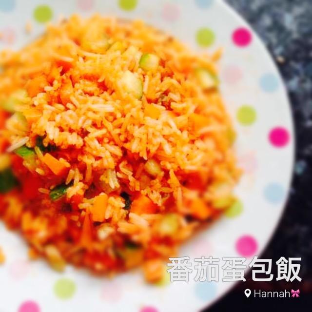 懒人食谱(  ▽ ` )简易版番茄蛋包饭的做法步骤 2.