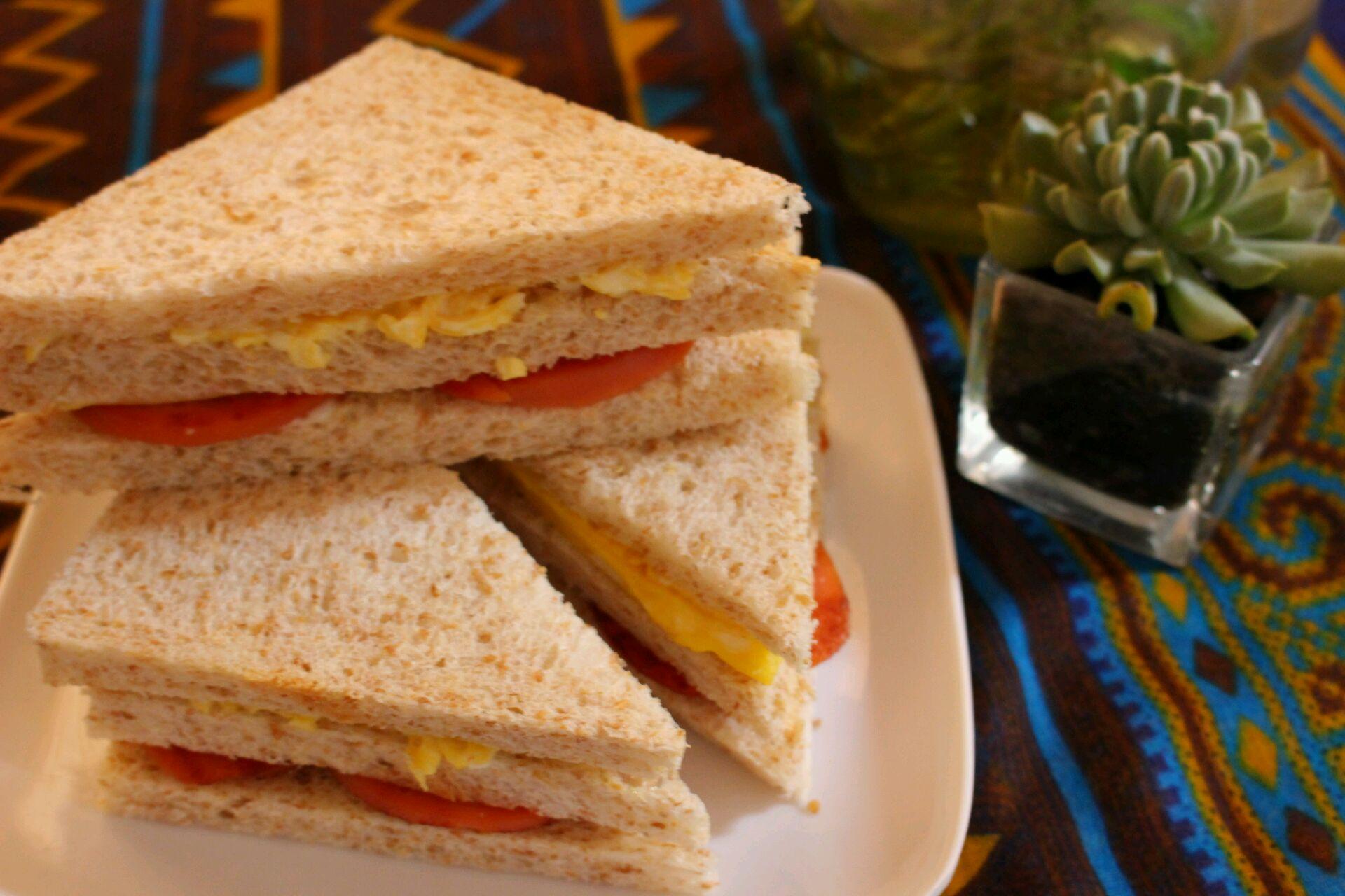 全麦三明治的做法_【图解】全麦三明治怎么做如何做