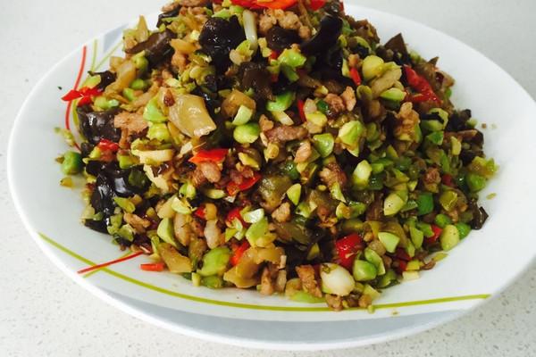 榨菜毛豆炒榨菜的配方_【图解】肉丁做法炒肉鱼菜谱毛豆明日之后的图片