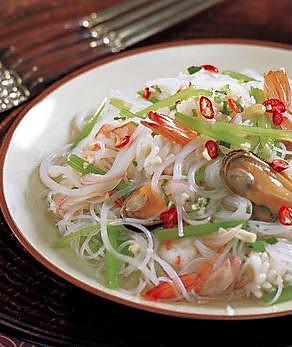 海鲜粉丝沙拉的做法