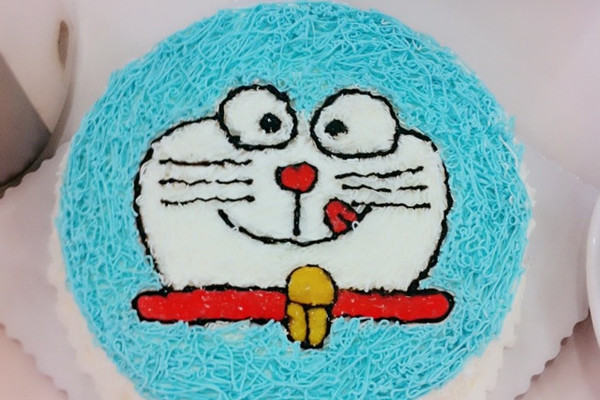 九阳电压力锅烘培,叮当猫奶油蛋糕.