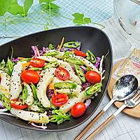 嫩煎鱼柳沙拉#丘比沙拉汁#的做法图解7