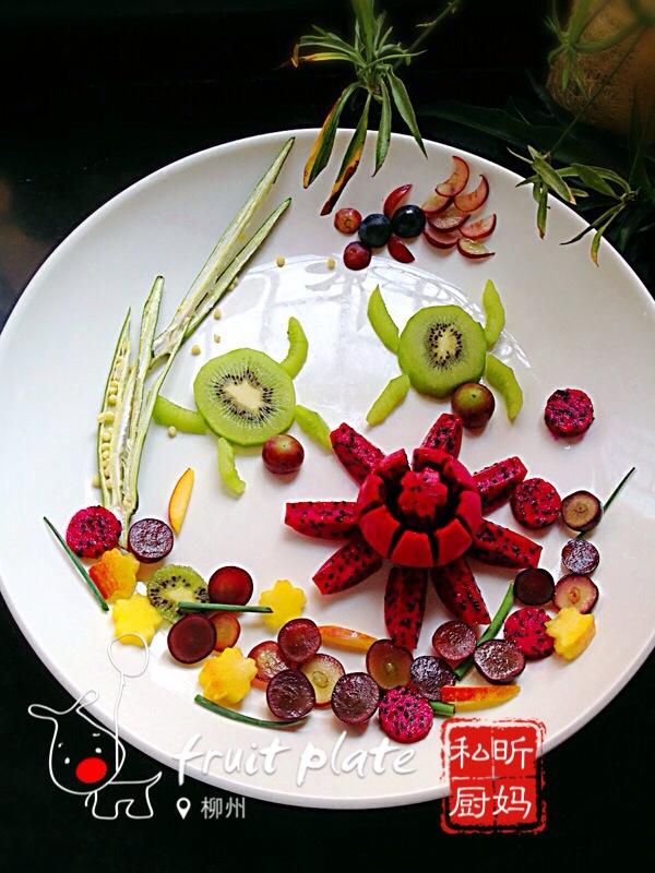草莓火龙果拼盘的做法步骤图,怎么做好吃