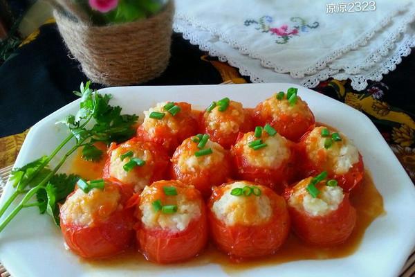 猪肉土豆酿西红柿的做法