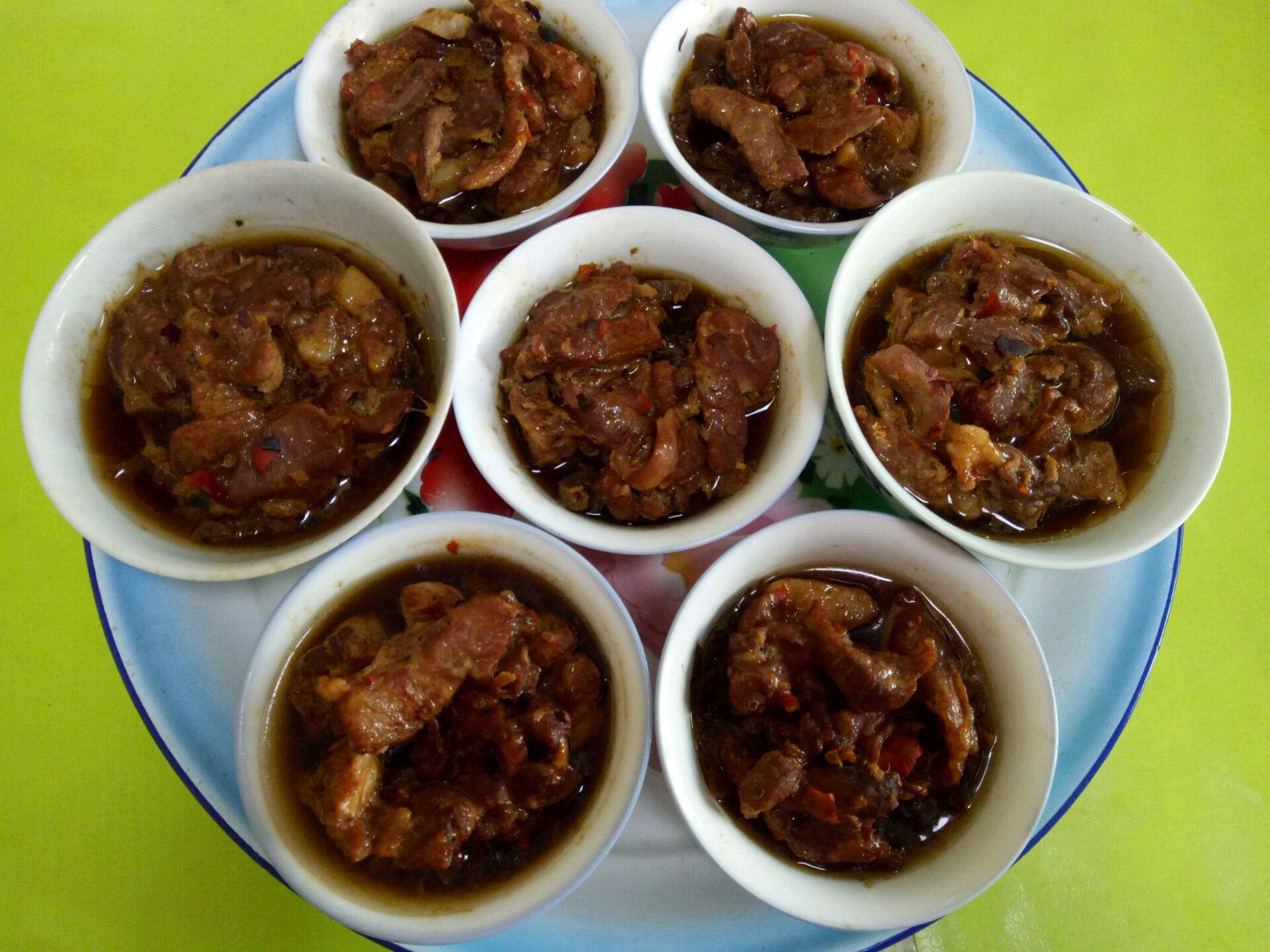 十三香鸡粉菜谱乐乐自家菜--腌菜蒸肉的做法料酒本白果的步骤炖鹅肉图片