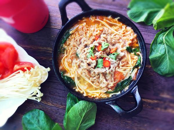 金针菇胃病锅#膳魔师地方美食赛(哈尔滨)#的做菜谱适合的有肥牛什么吃人图片