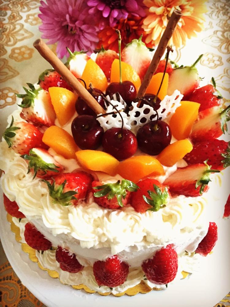 8寸水果生日蛋糕