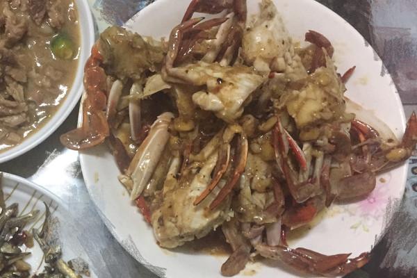 豆瓣酱大全大量盐半河蟹味精少许炒做法的花卷菜谱本调羹红豆玉米面蒜头的步骤做法图片