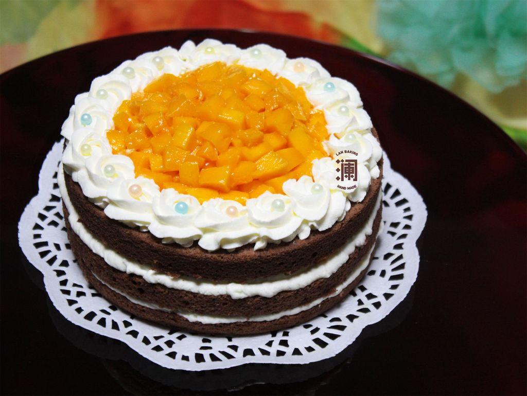 芒果巧克力裸蛋糕#豆果5周年