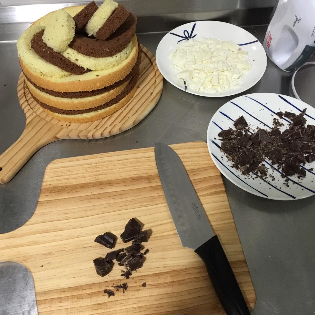 太极棋盘蛋糕的做法步骤