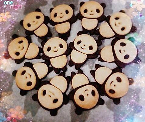 超萌大熊猫,熊掌饼干