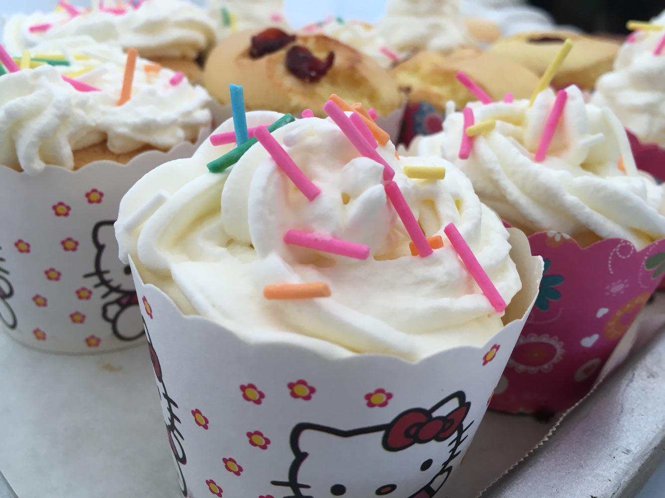 纸杯蛋糕简笔画彩色