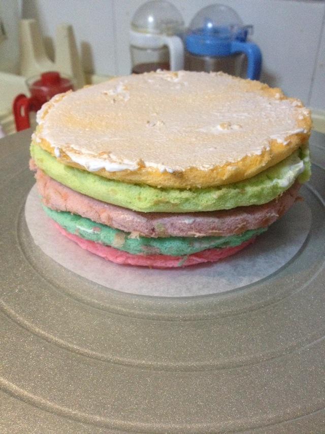 最简单步骤的彩虹蛋糕