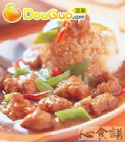 沙茶咸酥鸡烩饭的做法