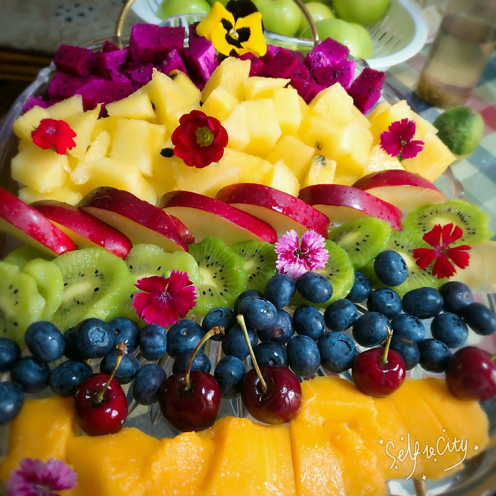彩虹水果拼盘的做法_【图解】彩虹水果拼盘怎么做