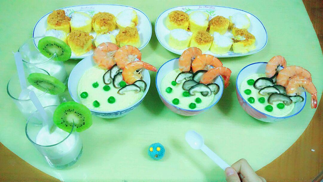 儿童早餐创意蛋遇上虾的做法图解1