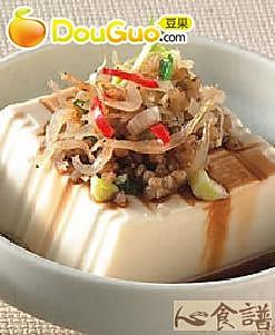 荞麦吻仔鱼拌豆腐的做法