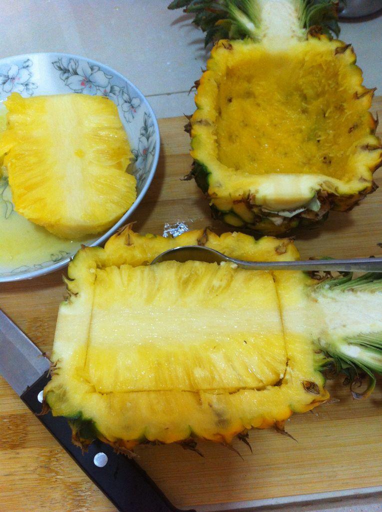 菠萝炒饭的做法图解3