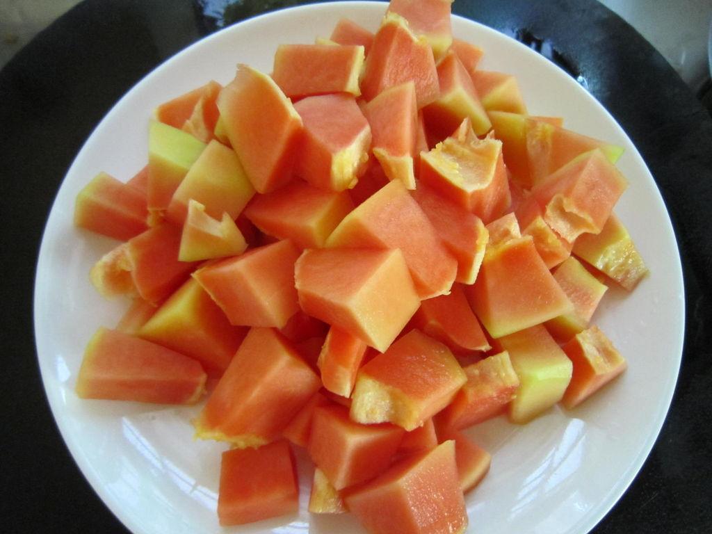 夏日清凉甜品——奶香木瓜西米露的做法图解6