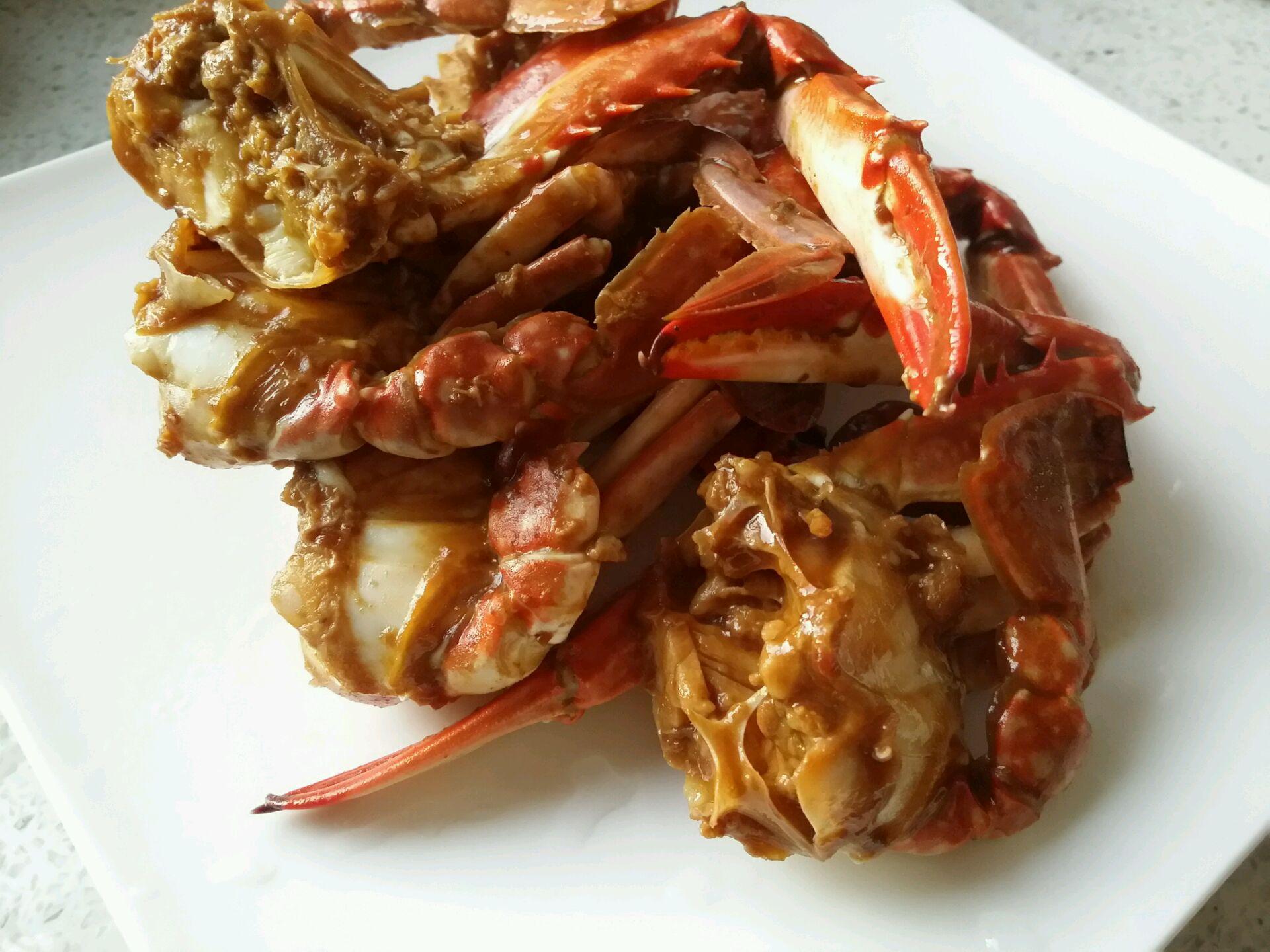 酱炒蟹块的做法_【图解】酱炒蟹块怎么做如何做好吃