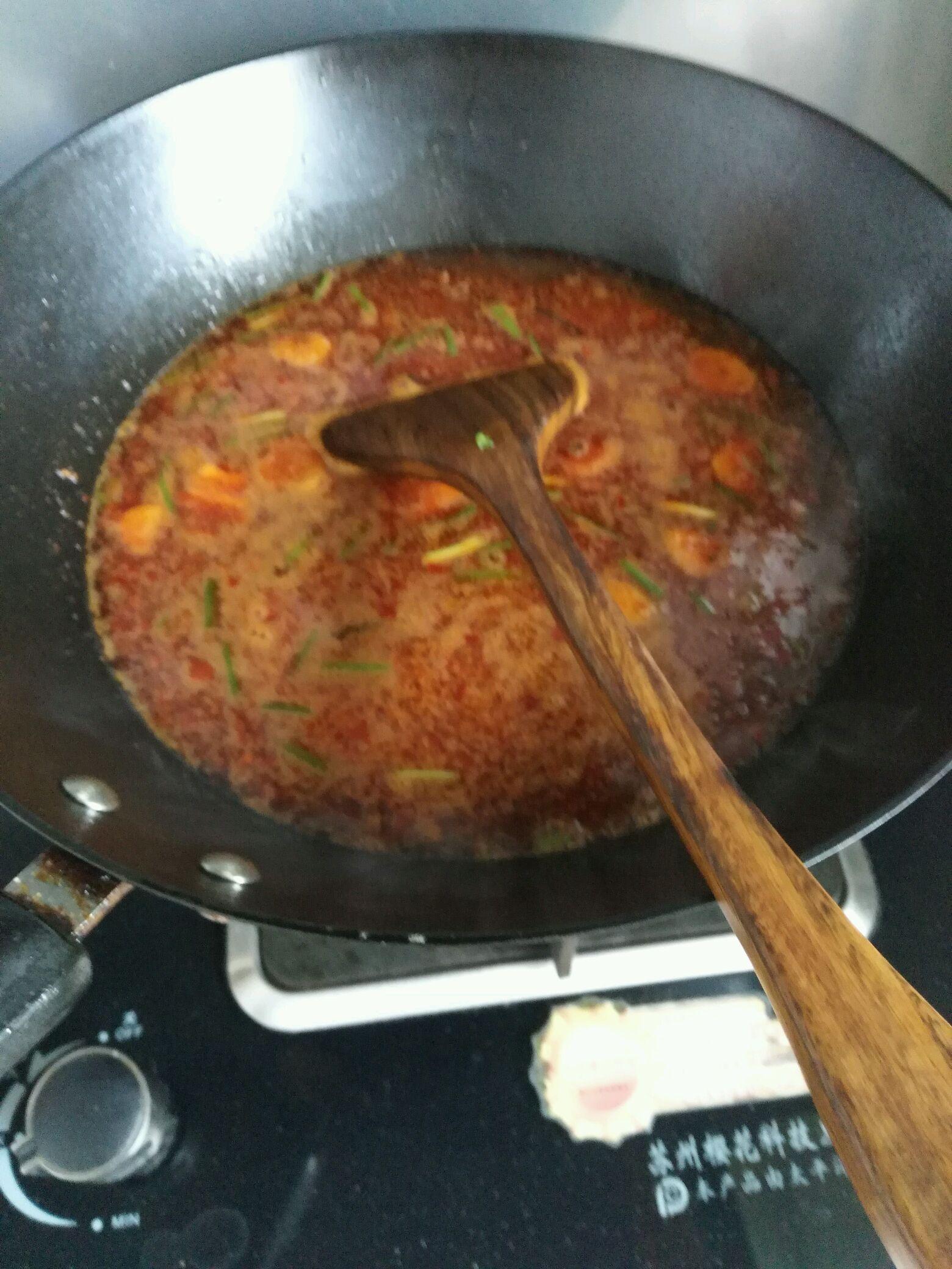 加豆瓣酱,火锅底料一些炒出菜谱,加大火,生抽,一点清水红油烧沸2分钟4模拟人生26白糖种图片