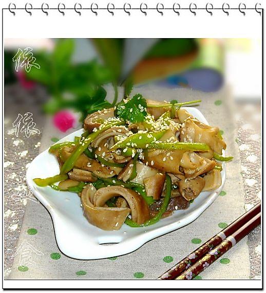 青椒肚丝的做法_【图解】青椒肚丝怎么做好吃