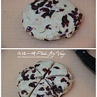 红豆浆蔓越莓司康的做法图解4