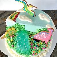 侏罗纪恐龙生日蛋糕#豆果5周年#的做法图解13