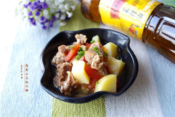 番茄土豆炖牛腩#舌尖上的外婆香#的做法