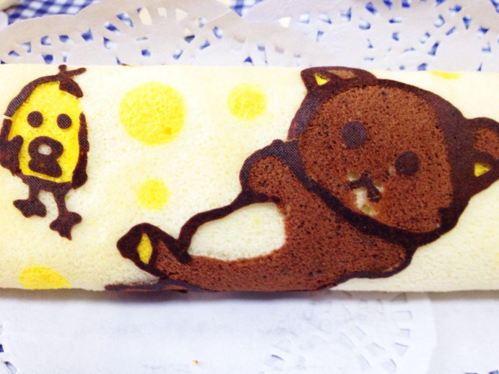 可爱熊彩绘蛋糕卷#长帝烘焙节