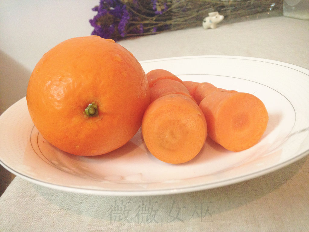 胡萝卜橙汁的做法步骤 4.