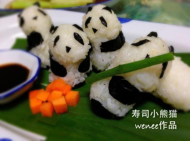 寿司小熊猫的做法_【图解】寿司小熊猫怎么做如何做