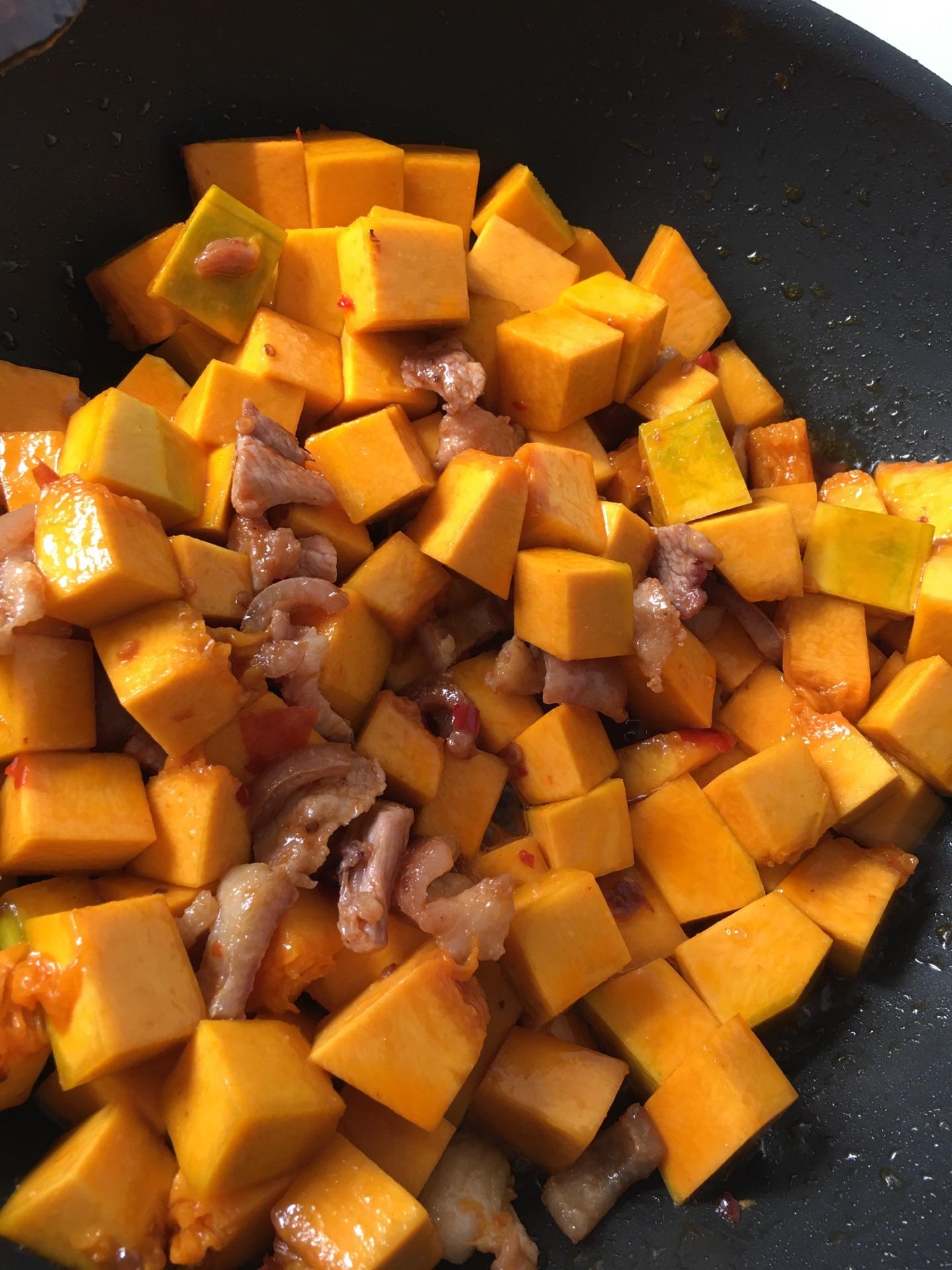 南瓜焖饭的做法图解3