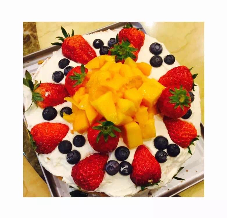 超简单水果裸蛋糕的做法步骤