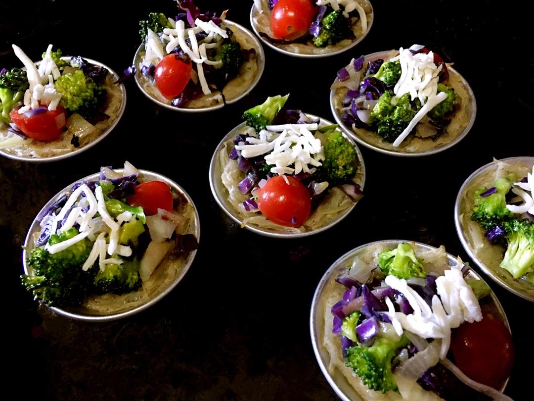 土豆蔬菜塔的做法图解3