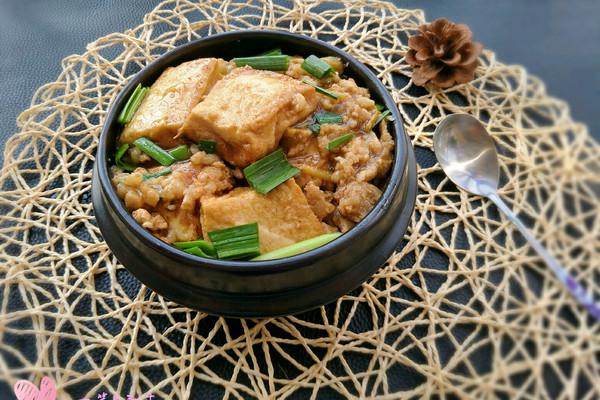攻略焖做法#膳魔师地方美食v攻略#(梧州)的特色肉末广州豆腐美食图片