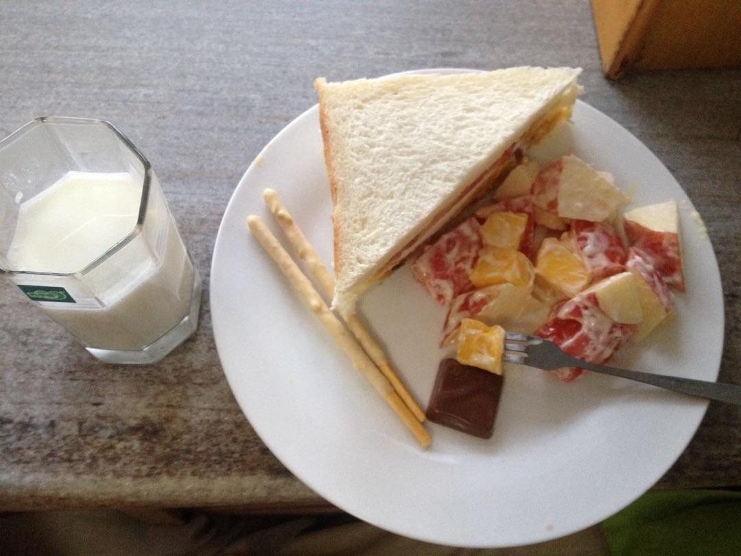 三明治早餐的做法_【图解】三明治早餐怎么做如何做