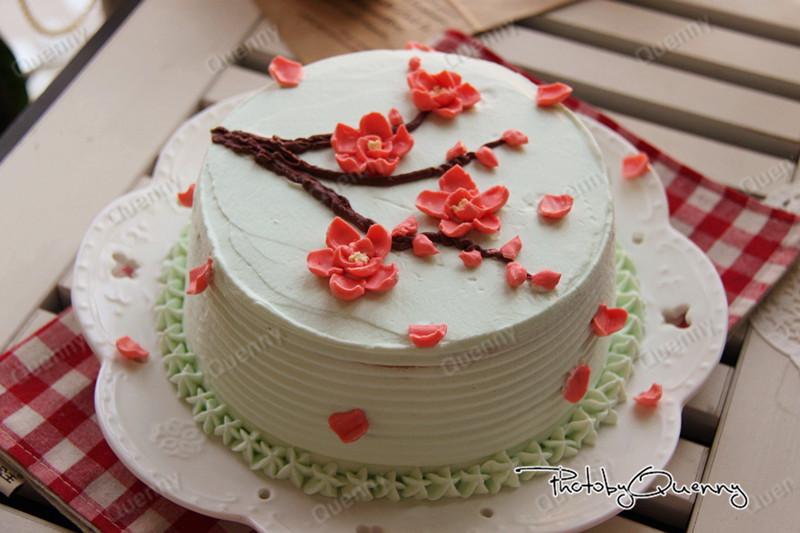【梅花裱花蛋糕】的做法_【图解】【梅花裱花蛋糕】做