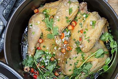 无水葱油鸡 美食台