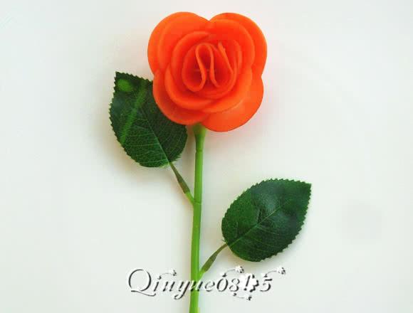 胡萝卜玫瑰花的做法步骤