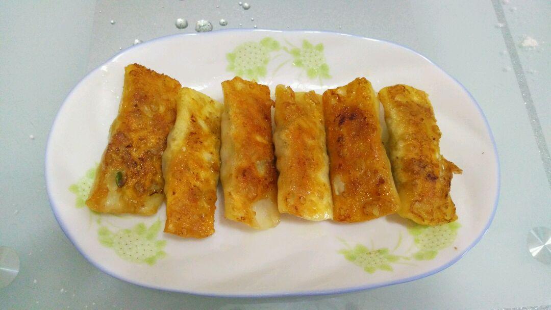 蒜黄锅贴的做法图解9