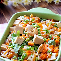 虾干蒸豆腐#我要上首页清爽家常菜#的做法图解12
