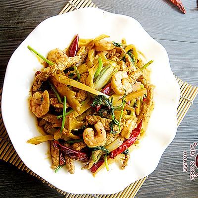 鲜辣榨菜炒肉乌江榨菜八爪鱼籽能吃图片