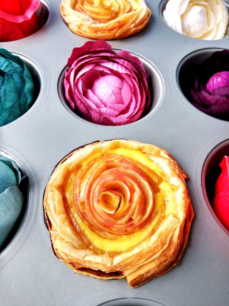 玫瑰苹果蛋挞的做法图解7