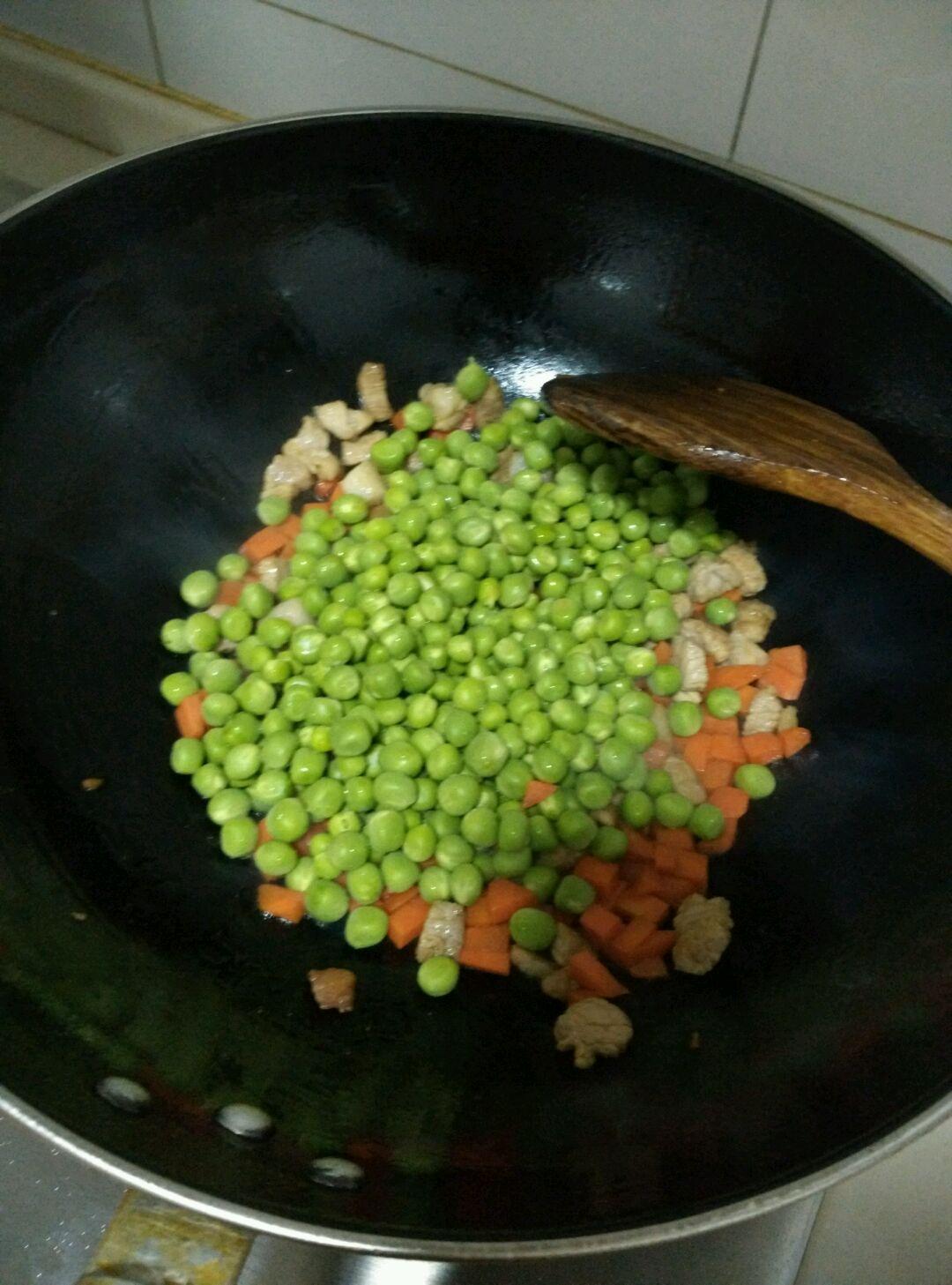 炒豌豆的做法图解5